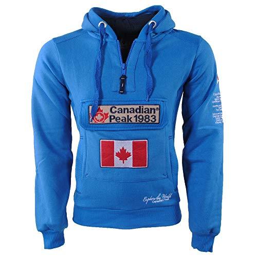 Canadian Peak Sudadera GALÁPAGOS de Hombre Azul ELÉCTRICO Talla XL