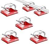 SOULWIT® 100Pcs Clips Organizador de Cables Autoadhesivo, Gestión de Cable Eléctrico, Clips de Cables para Cable de USB, TV, Cargador, Audio Mesa, Oficina, Casa