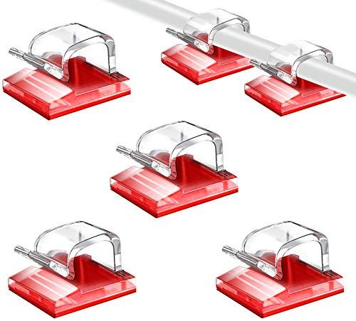 SOULWIT® 100Pcs Clips Organizador de Cables Autoadhesivo, Gestión de Cable Eléctrico, Clips...