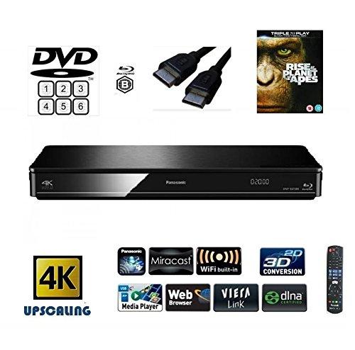 Panasonic dmp-bdt380 (MULTIREGION para DVD) Smart, 4 K, Reproductor de BLU- Ray con Construido en WiFi, Miracast, 3D conversión, y – Incluye DLNA HDMI y un título (sujeto a disponibilidad): Amazon.es: Electrónica