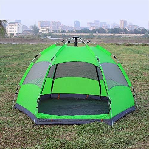 Yaunli Tent camping Outdoor Tent Dubbele Laag Camping 3-5 Persoon Regendichte Tent Luifel Tent Voor Kamperen Gemakkelijk om het opzetten van een grote tent buiten
