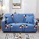 Funda de sofá Floral Envoltura elástica de algodón Fundas de sofá Antideslizantes con Todo Incluido para Sala de Estar Sofá de Esquina Toalla A28 3 plazas