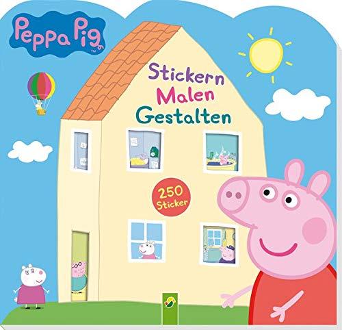 Peppa Pig Stickern Malen Gestalten: Mit 250 tollen Stickern: 250 Sticker