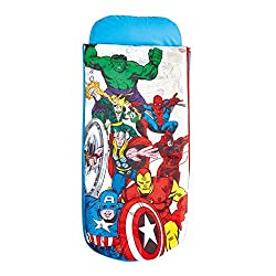 Marvel Comics Avengers Junior ReadyBed - Kids Airbed and Sleeping Bag in one 150 x 62 x 20 cm Blue