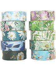 Yubbaex Washi Tape Set cinta adhesiva decorativa Washi Glitter Adhesivo de Cinta Decorativa para DIY Crafts Scrapbooking