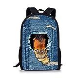 Smedley Bookbag Mochila escolar para niños, diseño de caballo, vaquero, mochila de viaje - - Medium