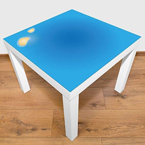 Playmatt speelmat voor tafel of vloer, kleine Atoll, vrij van schadelijke stoffen, antislip, wasbaar, 55 x 55 cm, past perfect op IKEA laktafel Open water