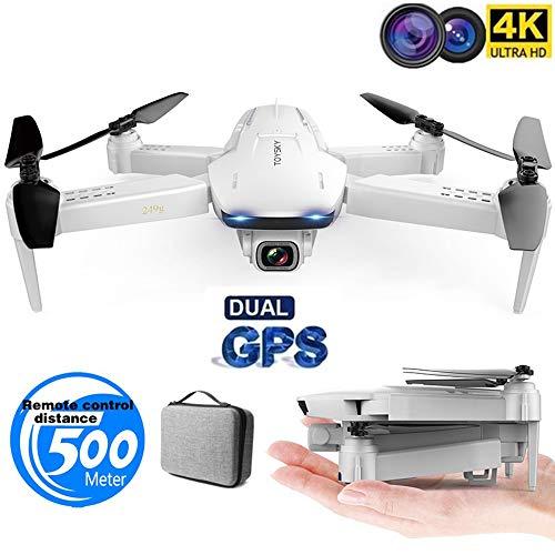 MEIGONGJU Quadcopter Plegable con una Sola tecla de Retorno RC Distancia de 500 Metros batería de Larga Vida Drone GPS S162 cámara 4K HD 1080P 5G WiFi avión no tripulado