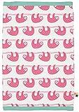 loud + proud Baby-Mädchen Scarf allover print organic cotton Schal, Rosa (Azalea Aza), One Size (Herstellergröße: OS)
