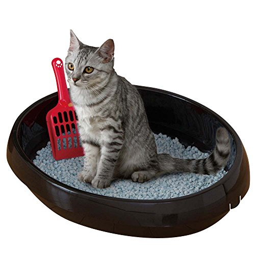 アイリスオーヤマ ネコのトイレ (スコップ付き) くろ M サイズ