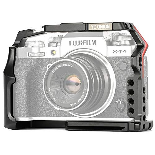 YC Onion kamerakäfig für Fujifilm XT-4 Aluminiumlegierung mit Arca Swiss Plate Schnellspanner Kaltschuh-Inbusschlüssel Y-Münze