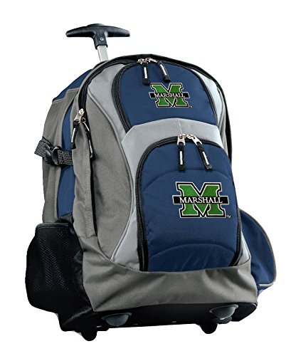 Broad Bay Marshall University Rolling Backpack Marshall Herd or CarryOn Suitcase Bag
