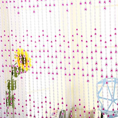 ZXL parelgordijn van kunststof voor kamerverdeler, decoratief, om op te hangen, deurbekleding, garderobe, slaapkamer (kleur: A, grootte: 86 strengen, 120 cm x 150 cm)