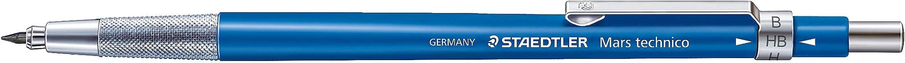 Staedtler 780C Mars Técnico - Portaminas Técnico (HB, 2 mm, Punta Metálica), Color Azul/ Gris