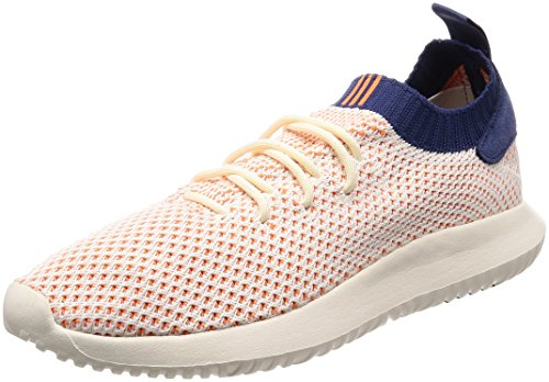 adidas Tubular Shadow Primeknit, Zapatillas Hombre, Blanco (Cream White/Off White/Noble Indigo), 44 2/3 EU