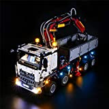 XJJY DIY USB LED Set de luz para (Technic arocs 3245 camión) Bloques de construcción Modelo, Kit de luz Compatible con Lego 42043, no Incluido el Modelo