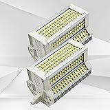 Bombilla LED R7S para Exteriores 50W Regulable de Doble Extremo Tipo J 118mm 4.64'Reflector LED 5400LM Equivalente 500W Lámpara de pie halógena 200 Grados
