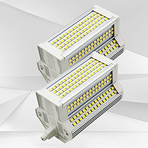 2X Bombilla LED R7S de 50 W para Exteriores, Regulable, 118 MM, de Doble Extremo de Ancho, 55 mm, Equivalente, Reflector halógeno de...