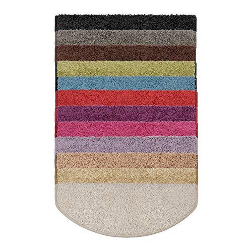 casa pura Shaggy Stufenmatten Barcelona Schutz für Treppenstufen | weicher Hochflor | GUT-Siegel | halbrund | Einzeln oder als Set | viele Farben | 15er Set | Dunkelbraun