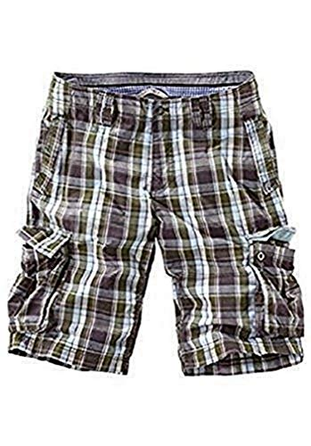 Unbekannt Bermudas Shorts Hombre - Verde de Cuadros Talla 35