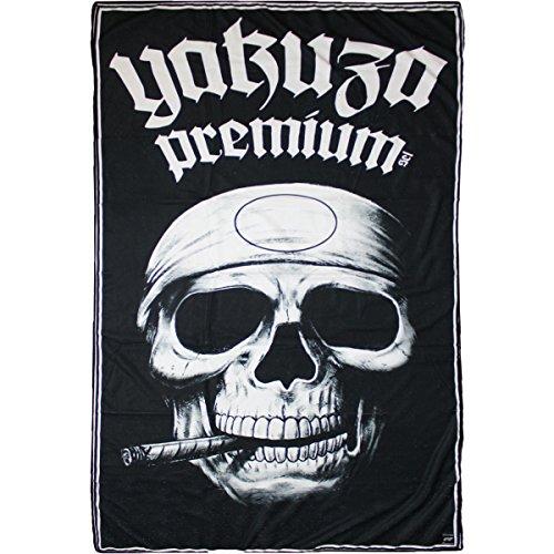Yakuza Premium Strandtuch Promo Skull Schwarz, ONESIZE