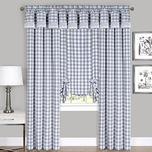 Achim Home Furnishings Valance Buffalo Check Window Curtain, 58