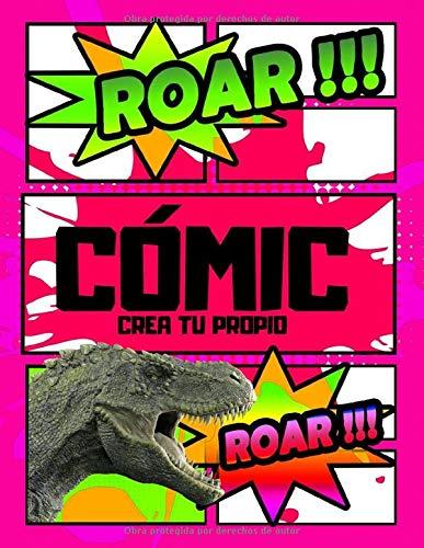 Crea tu propio cómic: Dinosaurios grandes dinosaurios niños 2 años cómic vacío dibujo infantil (cuaderno de dibujo comic)(Volume 5)