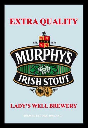 empireposter Beer - Murphys Irish Stout - Bier Bedruckter Spiegel mit Kunststoff Rahmen, Kult-Spiegel - Grösse 20x30 cm