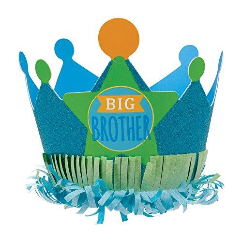 Amscan International 250614 Big Brother blauw papier glitter kroon 15 cm één maat