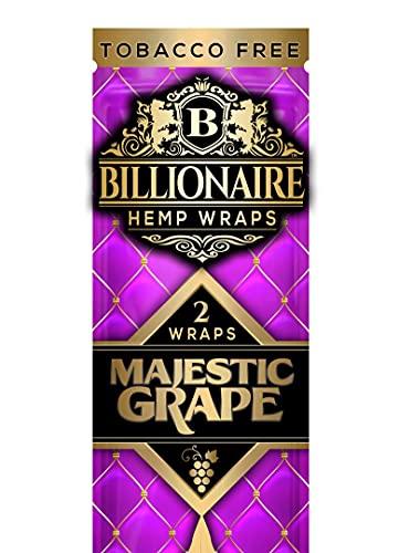 Billionaire Non tobacco Hemp Wraps- Majestic grape 4