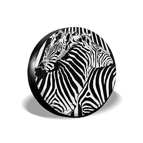 WH-CLA Wheel Cover Cubierta De Neumático De Repuesto Zebra En Blanco Y Negro, A Prueba De Polvo, Protectores De Rueda Universales, 4 Tamaños, Cubierta De Neumático De Rueda, Impermeable 15in/70~75cm