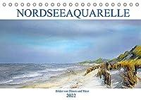 Nordseeaquarelle (Tischkalender 2022 DIN A5 quer): Aquarelle von Duenen und Meer (Monatskalender, 14 Seiten )