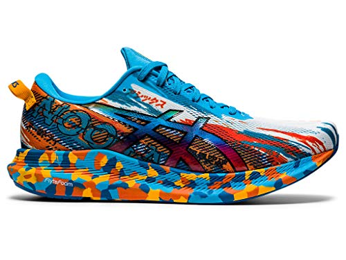 ASICS Men's Noosa Tri 13 Running Shoes, 11.5M, Digital Aqua/Marigold Orange