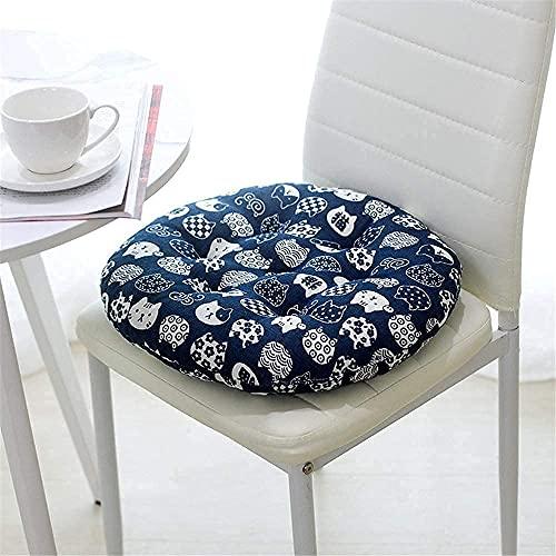 PPOIU Juego de 4 Cojines de Silla con Cordones, 40 x 40 x 8 cm, para Comedor, Cocina, jardín, salón, Patio, Oficina, sillas de Interior y Exterior (Navy-1)