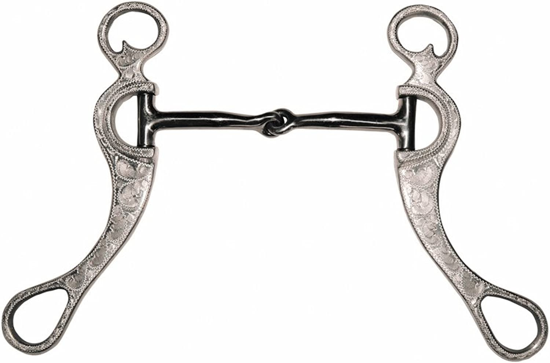 Metalab Snaffle Western Aluminium Gag Black Iron Rods Decorate