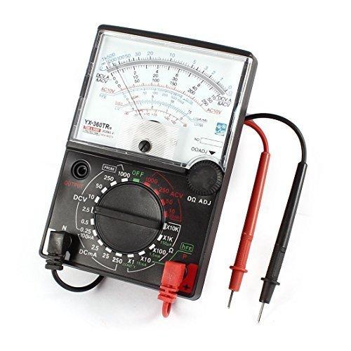DJYD Leads -360TRN voltios AC DC amperímetro Ohm hFE analógica de Prueba del multímetro FDWFN