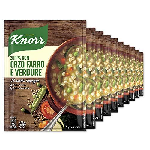 Knorr Zuppa Cereali E Verdure - Confezione Da 10 Pezzi - 1.7 kg