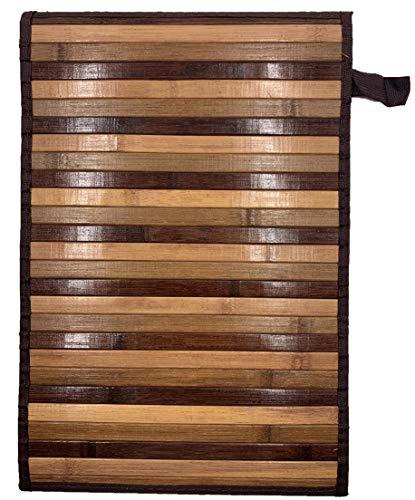Eurostyle - Alfombra de bambú con base antideslizante Degrade (50 x 370 cm), color marrón