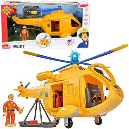 Sam El Bombero - Elicottero Wallaby con figura, 34 cm (Simba 9251002)