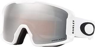 Oakley Line Miner Snow Goggle, Matte White, Medium, Prizm Black Iridium Lens
