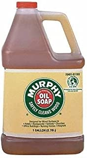 MURPHY OIL SOAP Wood Cleaner, Original, Concentrated Formula, Floor Cleaner, Multi-Use Wood Cleaner, Finished Surface Cleaner, 128 Fluid Ounce (Pack of 4) (101103)