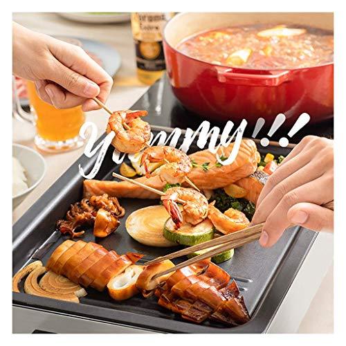 Kyman Indoor Hot Pot Barbecue Integrierte Topf, Zwei unabhängige Temperaturregelung Schalter, Koreanisches Barbecue Geschirrspüler Separate Hot Pot (Größe: 82.5cm mal, 29,7 cm mal; 9.6cm)