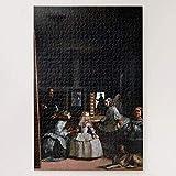 Tlmydd Las Meninas, Las Criadas De Honor, Diego Velázquez Jigsaw Puzzle 1000 Piezas Para Adultos, Entretenimiento DIY Juguetes Para Regalo Creativo Decoración Para El Hogar Día de San Valentín present