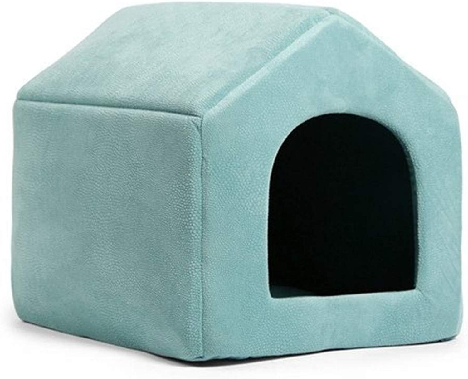PetvillaLKR Pet Products Luxury Dog House Cozy Dog Bed Puppy Kennel 5 color Pet Sleeping Bed Cat Cushion Kitten Mats Pet Shop Sky bluee,M