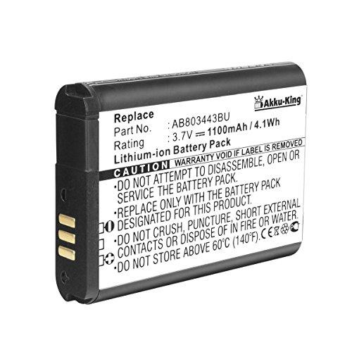 Akku-King Akku kompatibel mit Samsung AB803443BU - Li-Ion 1100mAh - für XCover 2 GT-C3350