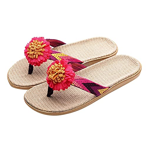 Briskorry Chanclas para mujer, sandalias planas, pantuflas de estar por casa, suaves, cómodas, transpirables, para el hogar, modernas, informales, antideslizantes