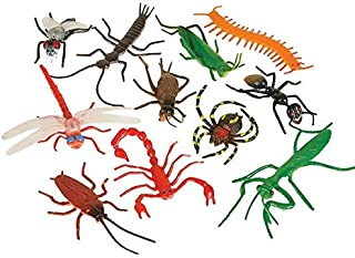 Rhode Island Novelty Assorted Realistic Insects/Bugs 144 Pieces