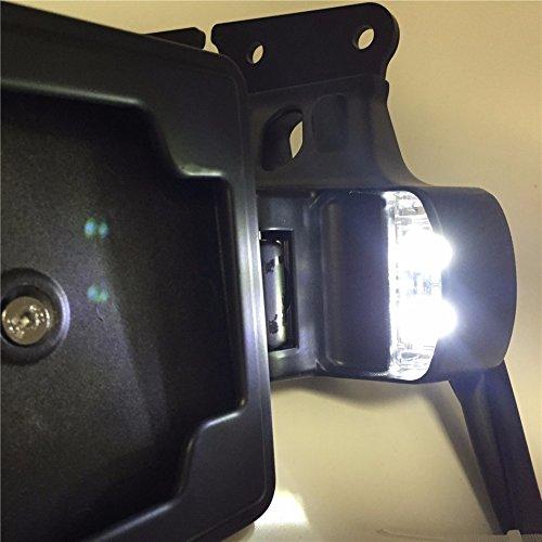 Sporster 1200/Roadster 883//Cuarenta ocho XL1200/X Htt motocicleta calavera negro instalaci/ón lateral de la matr/ícula Soporte w//luz LED para Harley 2004-later XL