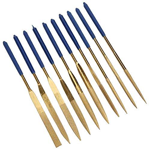 Resistencia al desgaste 160 mm 10 piezas Lima de diamantes Juego de limas de aguja de diamante para talla de acero en madera