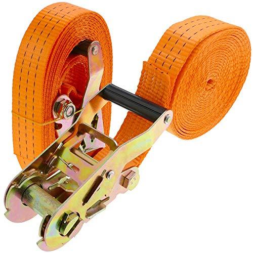 PrimeMatik - Houdband met ratel 38 mm x 10 m 3000 kg oranje (pak 2)